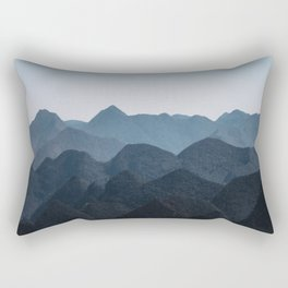 Layered Mountain Hills in Vietnam Rectangular Pillow