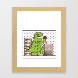 Godzilla Ugly Christmas Framed Art Print