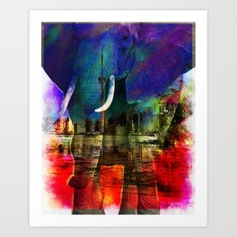 Elephant horns Art Print