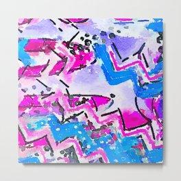 Surfs Up Watercolor Metal Print