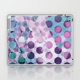 Circles on Triangles Lavenders Blues Laptop & iPad Skin