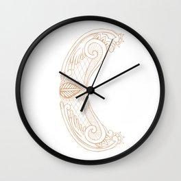 Fancy C Wall Clock