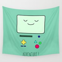 bmo Wall Tapestries featuring Adventure! BMO by CLOD