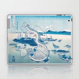 Haku the dragon japanese vintage woodblock mashup Laptop & iPad Skin