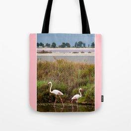 Flamingos in Camargue Tote Bag