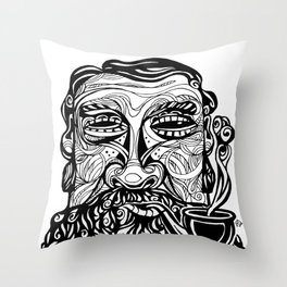 Pipe Man Throw Pillow