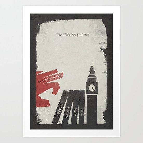 V Vendetta, Alternative Movie Poster, graphic novel by Alan Moore Art Print
