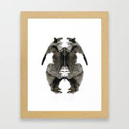 Rorschach Bears Framed Art Print