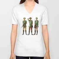 top gun V-neck T-shirts featuring Barely Soldiers by Torrinika