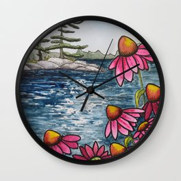 Canadian Cottage Life Wall Clock