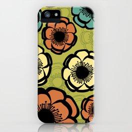Bold Retro Flower iPhone Case