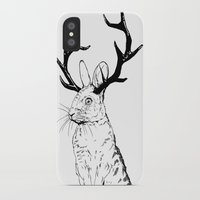 jackalope iPhone & iPod Cases featuring Jackalope by JChauvette