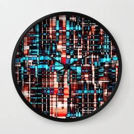 Almost Plaid Wall Clock