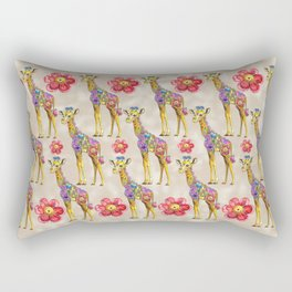 Sweet Giraffe Rectangular Pillow