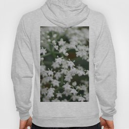 Small little white flowers Hoody