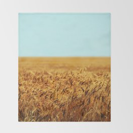 Pure Gold Throw Blanket