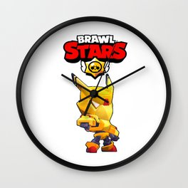 Gold Mecha Crow design | Brawl Stars Wall Clock