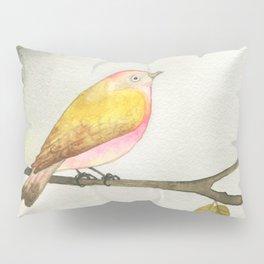 Pink Yellow Bird Pillow Sham