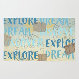 Explore Dream Discover Rug
