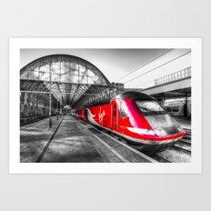 Virgin Train Kings Cross Station Art Print