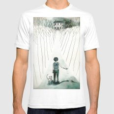 so lonely and so lost... White MEDIUM Mens Fitted Tee