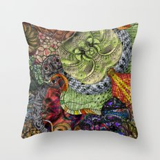 Psychedelic Botanical 10 Throw Pillow