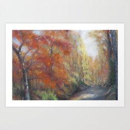 Fall Walk Art Print
