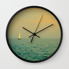 Sailing on The Great Lakes Wall Clock