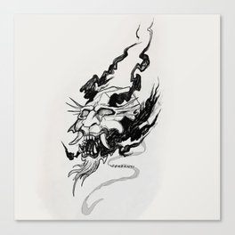 Burning Mask Canvas Print