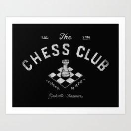 Chess Club Art Print