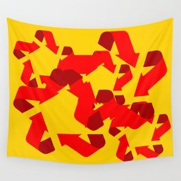 Recycle red star Symbol of new communism Wall Tapestry