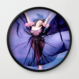 Vintage Lingerie Pin Up Wall Clock