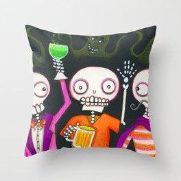 Halloween Happy Hour Throw Pillow