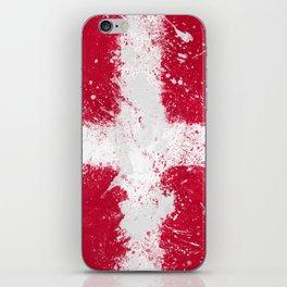 Denmark Flag Grunge iPhone Skin