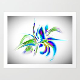 Abstract perfection - Flower Magical Art Print