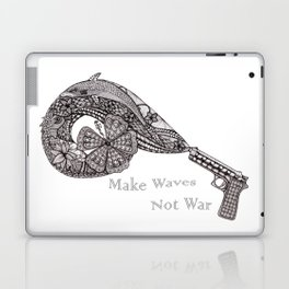 Make waves not war Laptop & iPad Skin