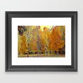 Klimt Trees Framed Art Print