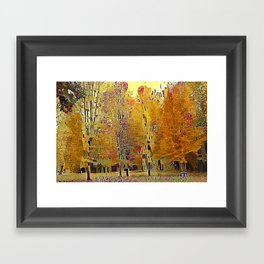 Klimt Trees Framed Art Print