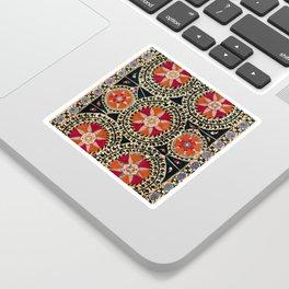 Katti Kurgan Suzani Uzbekistan Embroidery Print Sticker