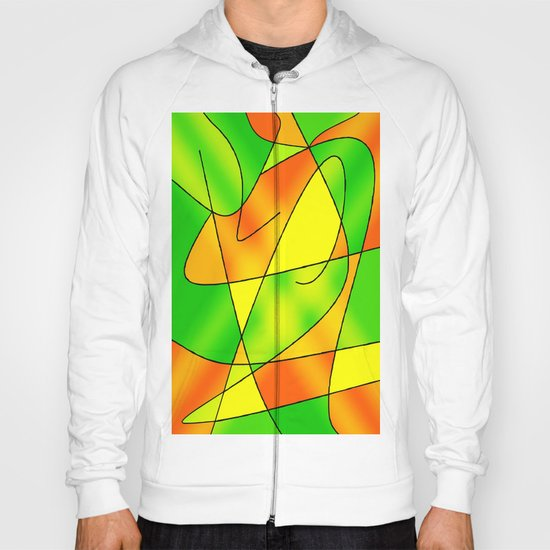 ABSTRACT CURVES #2 (Greens, Oranges & Yellows) Hoody