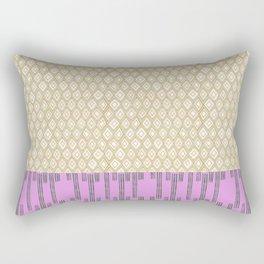 Black Green Pink Ethnic Print Rectangular Pillow