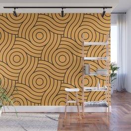 Circle Swirl Pattern VA Bright Marigold - Spring Squash - Pure Joy - Just Ducky Wall Mural