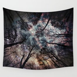 Starry Sky in the Forest Wandbehang