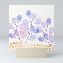 Bonsai Eucalytpus with Metallic Accents Mini Art Print