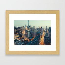 Downtown Chicago at Dusk Framed Art Print