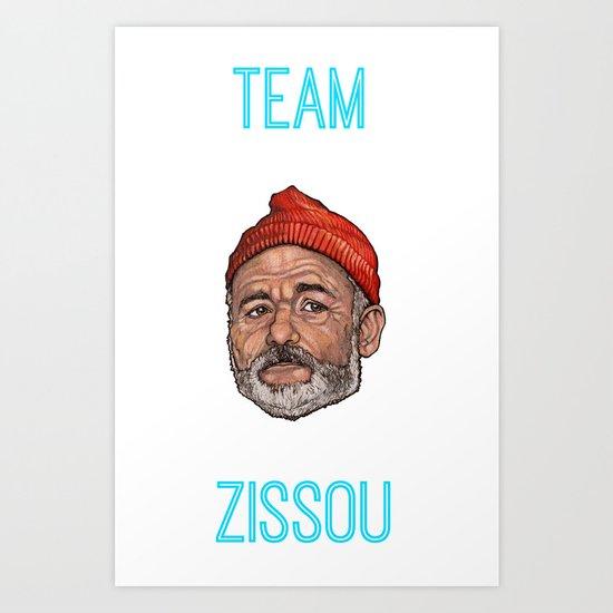 Bill Murray / Team Zissou Art Print