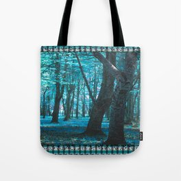 Forest in Teal Tote Bag