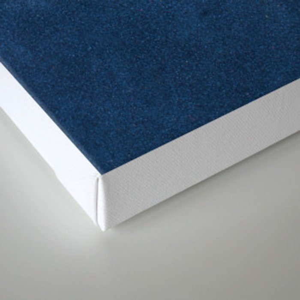 Blue leather texture Canvas Print