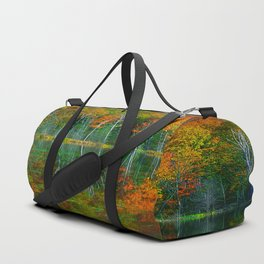 Forest and Lake Reflection Duffle Bag