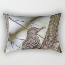 Northern Flicker, Male Red Shafted, No. 1 Rectangular Pillow